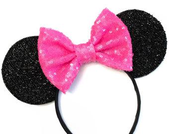 Headband clipart hot pink Ears Minnie Headband Mickey Minnie