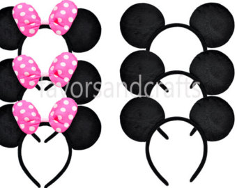 Headband clipart mickey mouse Mouse Ears Bows Minnie PCS