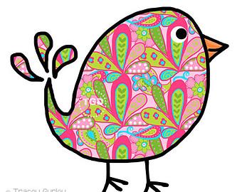 Headband clipart paisley Bird Paisley Original Etsy art