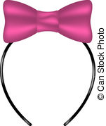 Headband clipart pink Background Graphics pink bow
