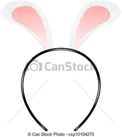 Headband clipart rabbit ear On white (headband) of Vectors
