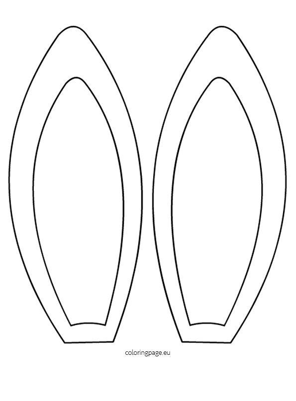 Headband clipart rabbit ear Shirt Verkleed headband wit met