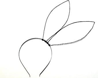 Headband clipart rabbit ear Oversized Glamourous Rabbit Elements Headband