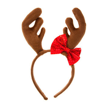 Headband clipart red Reindeer headband Antlers Headband Reindeer