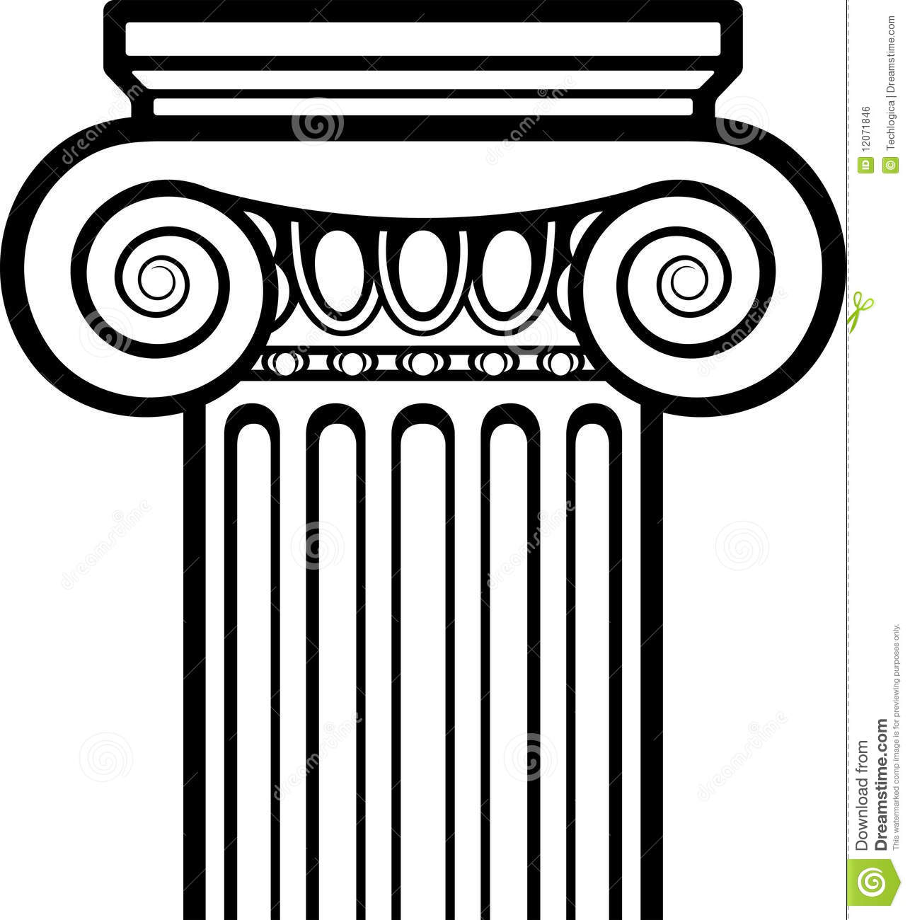 Architecture clipart greek column Una Searching columna dibujar griega