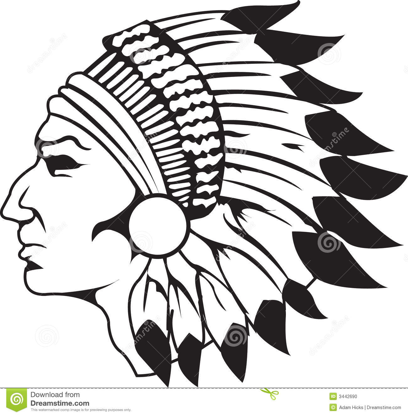 Headdress clipart Cliparts clipart head Native collection