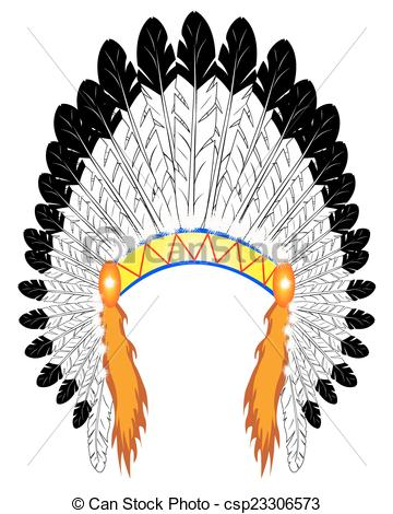 Headdress clipart Illustrations indian Chief  chief