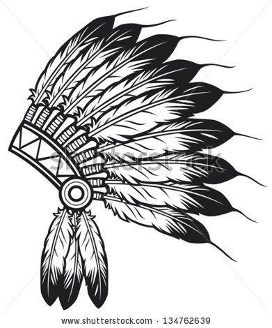 Headdress clipart amerindian #1