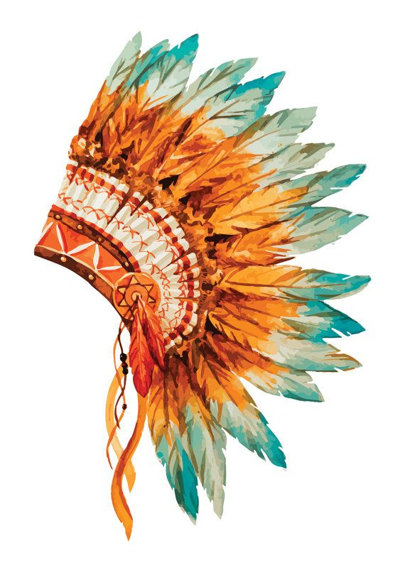 Headdress clipart amerindian #5