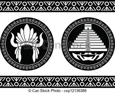 Headdress clipart aztec Pyramid headdress  and Search