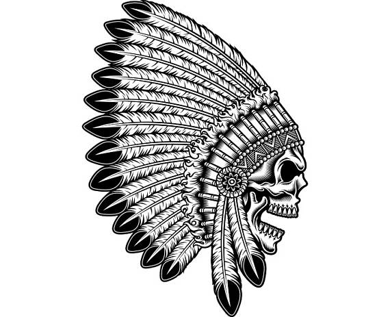 Chief clipart shield Logo Warrior Feather EPS Clipart