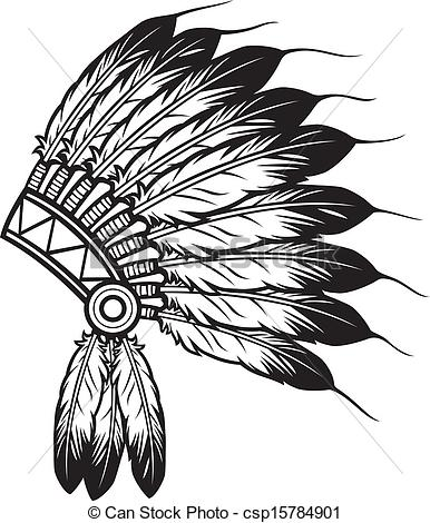 Native American clipart feather Clipart of Clipart headdress american