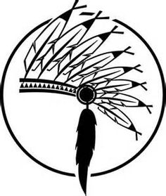 Headdress clipart black and white Week indian  native Clipart