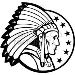 Chief clipart shield White side chief headdress and