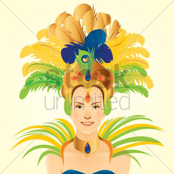 Carnival clipart headdress Art carnival headdress headdress vector