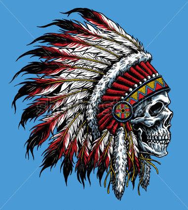 Headdress clipart cherokee indian Vector Clipart Vector Skull stock
