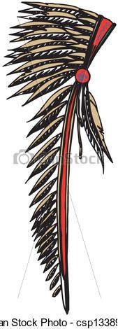 Headdress clipart chief Chief American csp13389377 Headdress