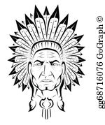 Headdress clipart chief Native  Native Skull; Chief