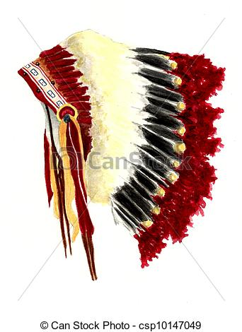 Headdress Painting royalty Chieftain