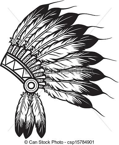 Headdress clipart choctaw chief 11 of indian Vector indian