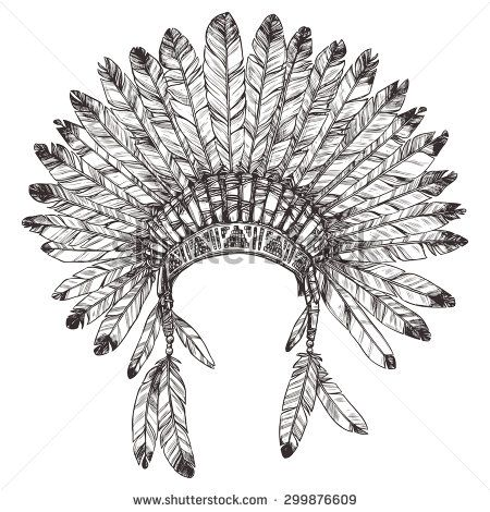 Headdress clipart choctaw chief Of Native Pinterest Illustration Hand