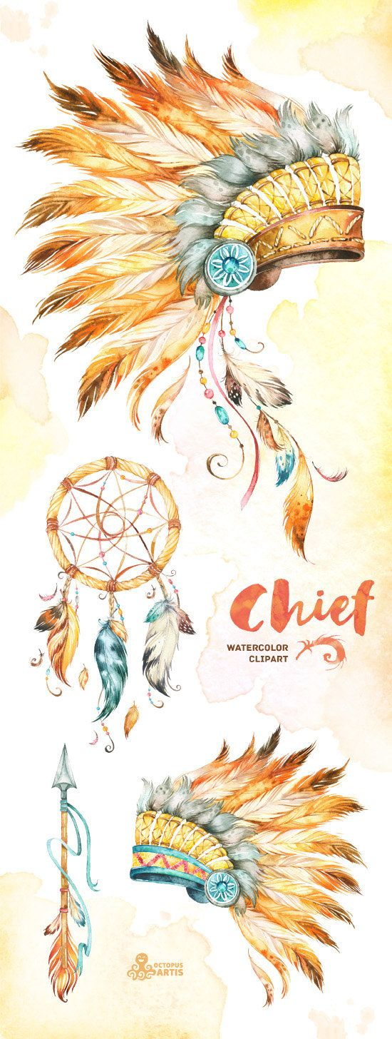 Indian clipart bonnet Native Clipart Tribal diy feathers