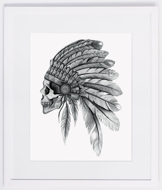 Headdress clipart indigenous Indian headdress NZFINCH by skull