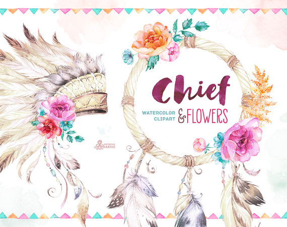 Headdress clipart cowboy indian Etsy diy Warbonnet and Chief