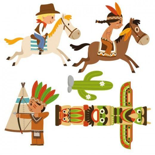 Headdress clipart cowboy indian  images enfant à cheval