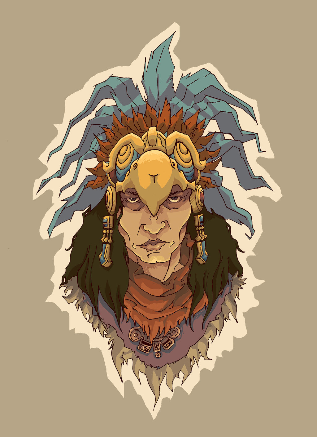 Headdress clipart deviantart Warrior Warrior Aztec by DeviantArt