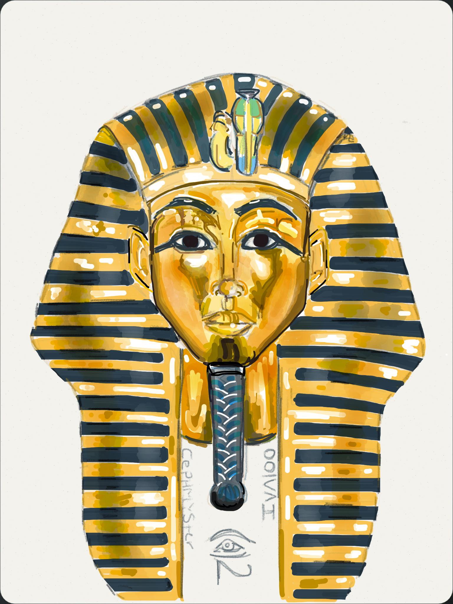 Headdress clipart deviantart Head head Pharaoh's by DeviantArt