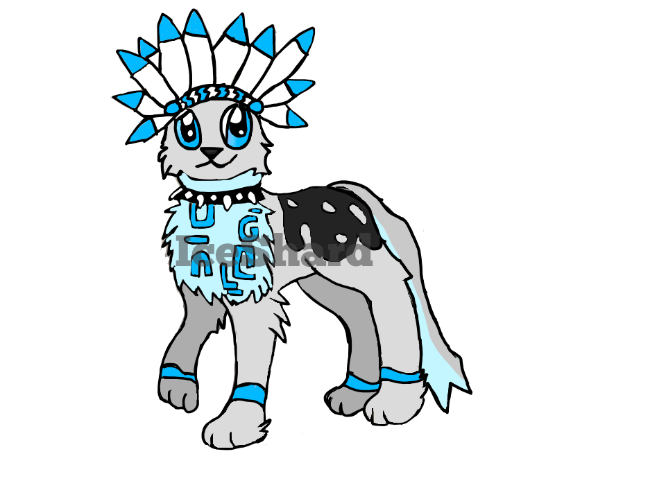 Headdress clipart deviantart DeviantArt Wolf on by Headdress