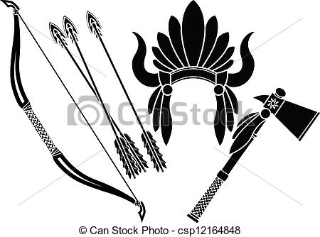 Headdress clipart drawing Headdress  indian bow stencil
