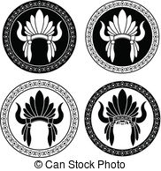 Headdress clipart drawing Chief Indian  native headdress