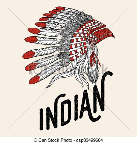 Headdress clipart drawing Design Vector indian headdress of