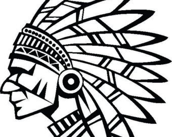 Headdress clipart drawing Indian Decal: decal Etsy Decals