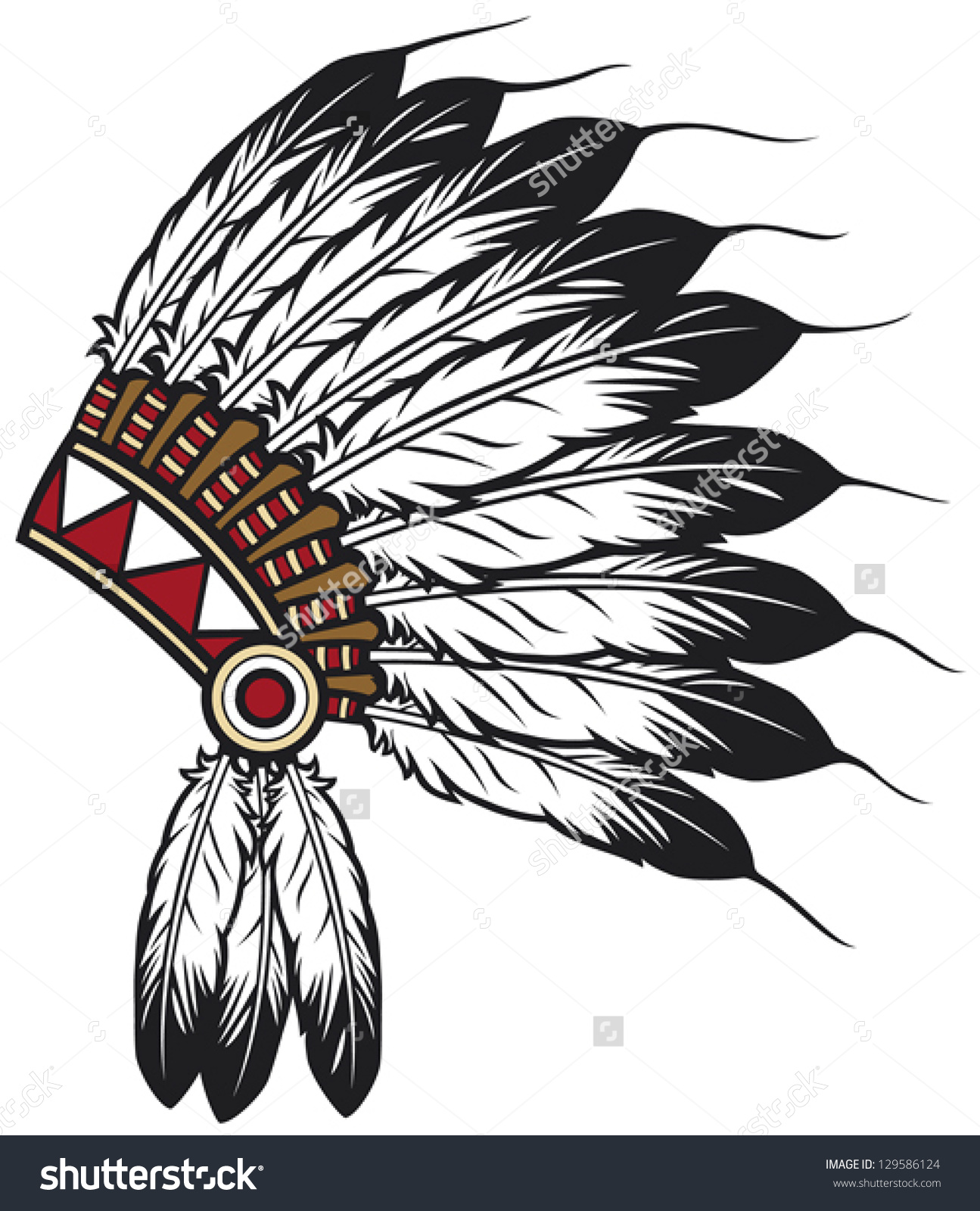 Headdress clipart first nation person Search first nations Search head