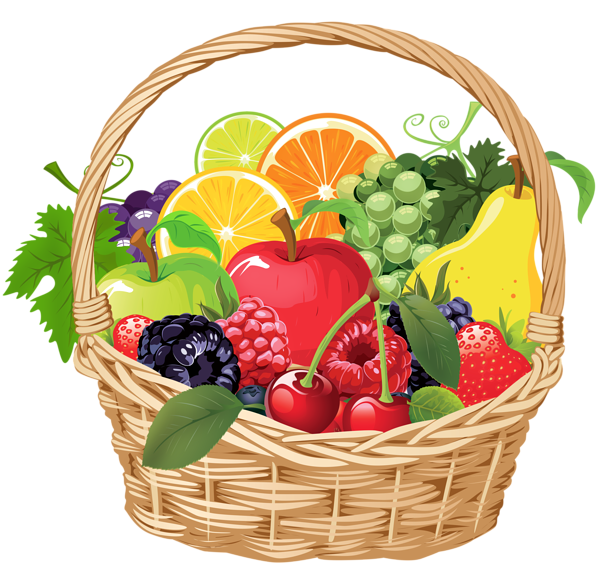 Headdress clipart fruit  Vector Fruit vegetables Fruits