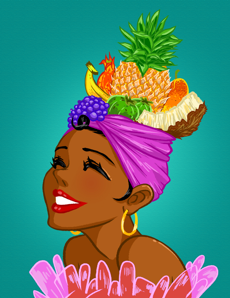 Headdress clipart fruit Tropical Headpiece  Hawaiian mosuga