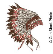 Chief clipart indian headdress Chief Chief  headdress Clipart