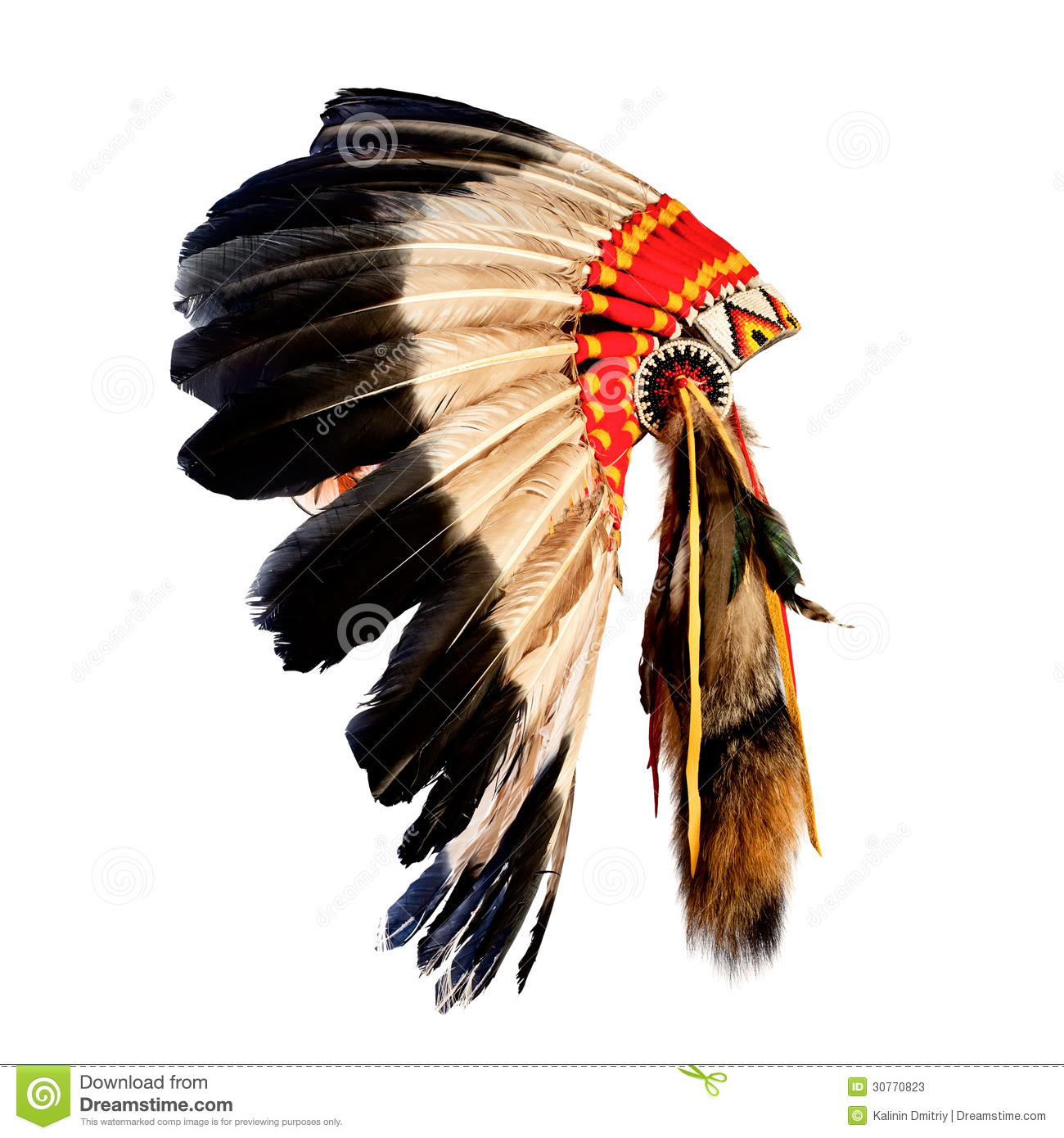 Headdress clipart indian feather Indian Chief Headdress (61+) chief