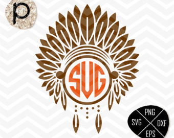 Apache SVG*Headdress SVG*Apache native Red