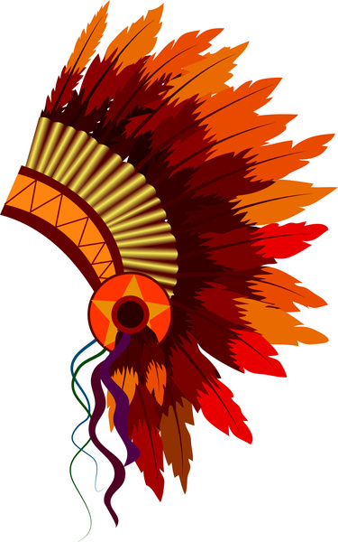 Native American clipart indian hat American ( vector  1
