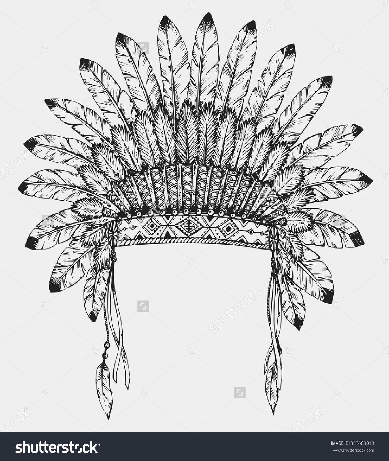 Headdress clipart indian hat Drawing Search konkurs Google american