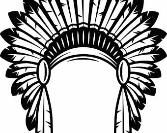 Headdress clipart indian head Chief Costume Feather Logo Native