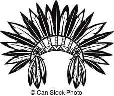 Headdress clipart indian head EPS Indian Clip and Illustrations