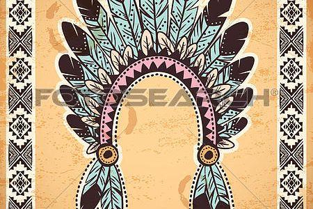 Headdress clipart indian headband  to Headband Headband Native