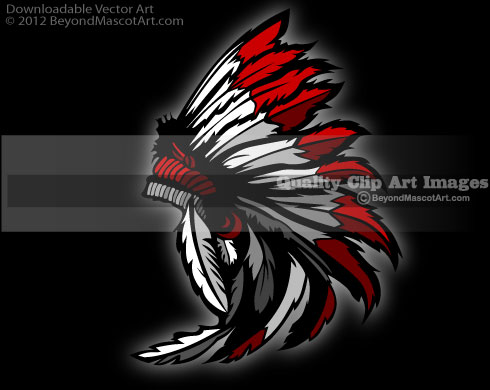 Chief clipart indian basketball Mascot Team Headdress 0405 Art