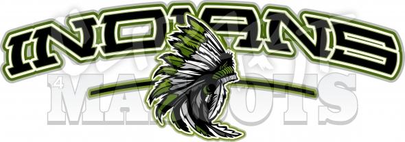 Headdress clipart indian mascot Logo Indians Indians Logo Graphic