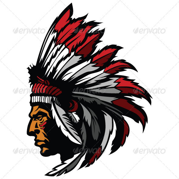 Headdress clipart indian mascot Mascot Indian Vector Graphic Feather
